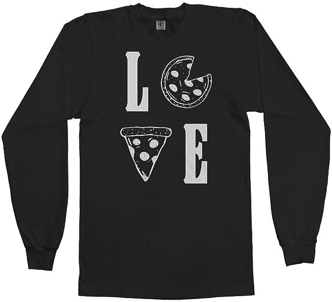 f26b1215c Amazon.com: Love Pizza   Funny Pizza Lover Gift Men's Long Sleeve T ...