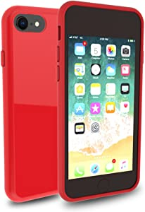iPhone 8 7 Case, DragonFruitee iPhone 8 Case Clear / iPhone 7 Case [Full TPU Cushion] [Raised Lip] [Corner Reinforcement Protection] [Scratch Resistant] for Apple iPhone8 / iPhone7 2016 2017 - Red