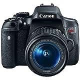 Canon EOS Rebel T6i Digital SLR Camera Wifi + EF-S 18-55mm IS & Sigma 70-300mm Lens Kit + Accessory Bundle 64GB SDXC Memory + DSLR Photo Bag + Wide Angle Lens + 2x Telephoto Lens +Flash+Remote+Tripod