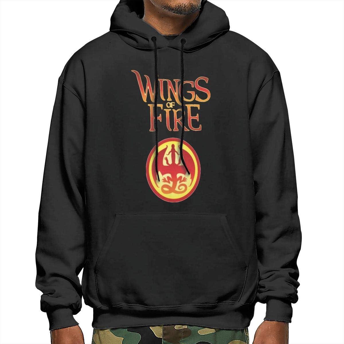 AlbertCox Wings of Fire Mens Hoodie Casual Long Sleeve Pullover Hooded Sweater