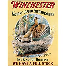 Old Tin Signs Winchester_Factory_Loaded_Shotgun_Shells_Drummer_Vintage_Country_Decor