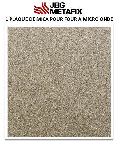 JBG - Placa de mica para microondas, 300 x 300 mm, alto rendimiento, procedente de Francia
