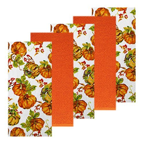 Fall Pumpkin Watercolor Kitchen Towel 5