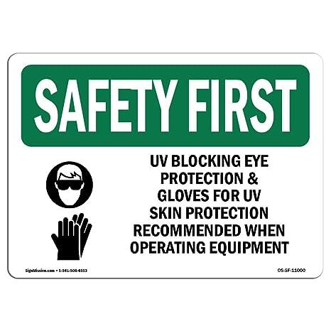 Amazon Osha Safety First Sign Uv Blocking Eye Protection