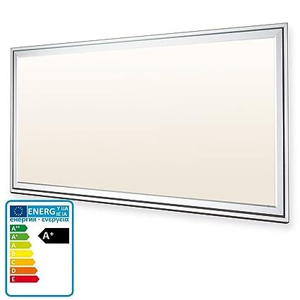 LEDVero 1er Set 30x60cm Ultraslim LED Panel 20W, 1600lm, 3000K Deckenleuchte mit Befestigungsclips und EMV2016 Trafo -Warmwei