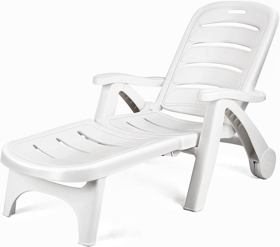 Giantex Folding Lounger Chaise Chair