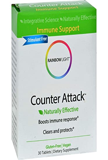 Amazon Com Rainbow Light Counter Attack Vitamin C And Zinc