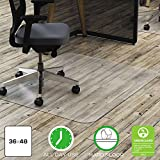 Deflecto Polycarbonate Hardfloor EconoMat Clear Chair Mat, Hard Floor Use, Rectangle, Straight Edge, 36