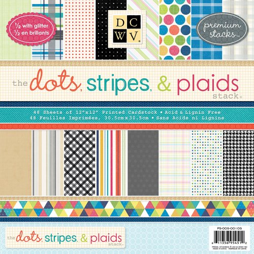 Dots, Stripes and Plaids Premium Printed Mat Stack (Premium Cardstock Stack)