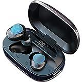 【進化版】LANGTU-MakThing Bluetooth イヤホン ワイヤレスイヤホン ブルートゥースイヤホン HI-FI高音質 重低音 CVC8.0ノイズキャンセリング LEDディスプレイ 自動ペアリング 片耳両耳通用 IPX7防水 軽量 最大300時間連続駆動 モバイルバッテリー機能 音量調節 Siri対応 IPhone & Android対応 技適認証済 MT-G16C