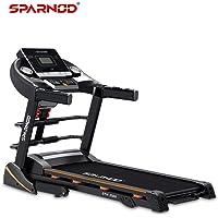 Sparnod Fitness STH-3500 (4 HP Peak) Automatic Treadmill (Free Installation Service) - Foldable Motorized Running Indoor…