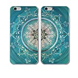 iPhone 6/6s 2 Cases-TTOTT New Fashion Floral Green Mandala Couple Matching Soft Slim TPU Anti-Scratch Bumper Best Friend Gift Cases for iPhone6/6s 4.7 inch
