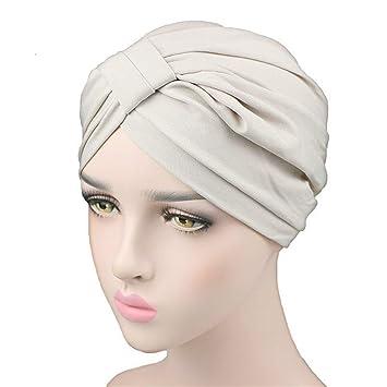 Stretchy Modal Cotton Turban Dome Cap Headwear for Chemo Twist Hijab Head