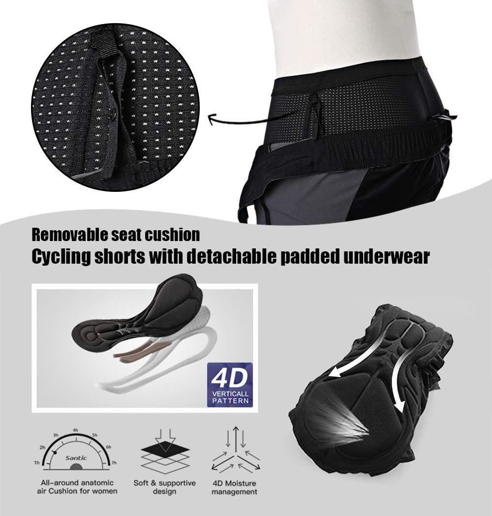 Santic Pantalones Cortos Ciclismo Hombre Transpirables MTB Casual Deportes Exteriores: Amazon.es: Deportes y aire libre