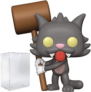 Funko Pop! Animation: Simpsons - Scratchy Vinyl Figure (Includes Compatible Pop Box Protector Case)