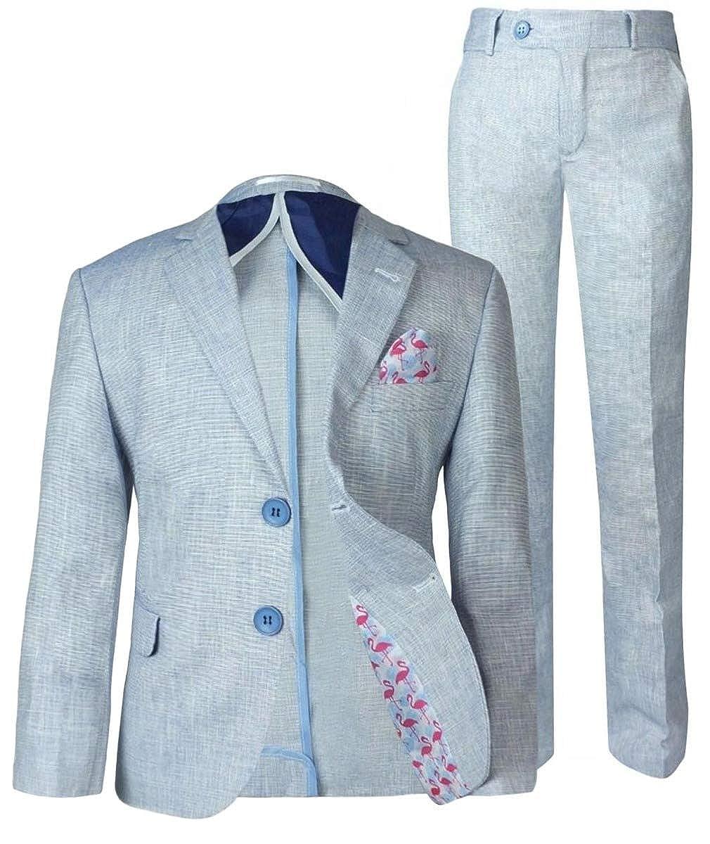 Boys Linen Casual Suits Page Boy Kids Summer Outfit Boy Formal Suit Boy Multi Color Linen Suit