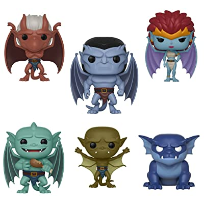 POP Disney: Gargoyles Goliath, Lexington, Brooklyn and Broadway, Demona, Bronx Vinyl Figures Set: Toys & Games