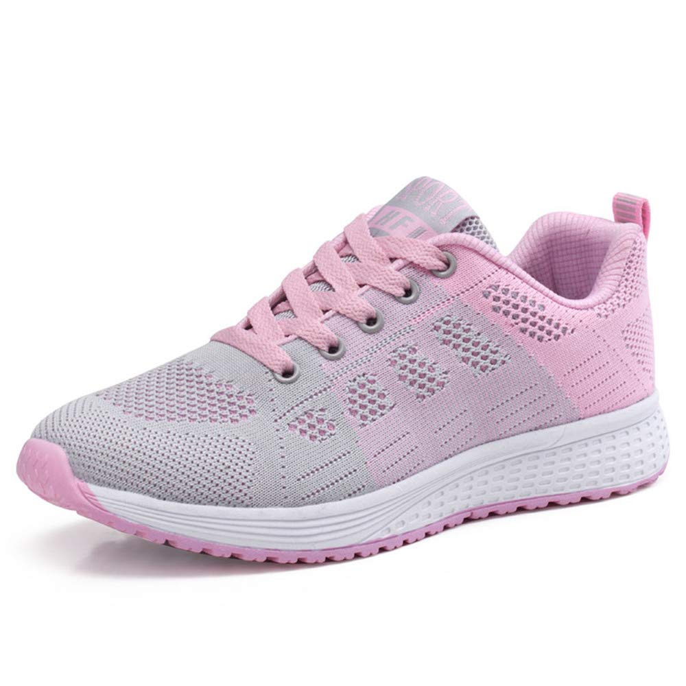 Women's Running Shoes Tennis Athletic Jogging Sport Walking Sneakers Gym Fitness Pink 37