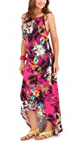 Ladies Summer Holiday Evening Party Dress Womens Tropical Pistachio Floral Maxi