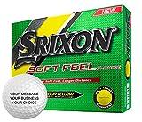 Srixon Soft Feel Personalized Golf Balls - Add Your Own Text (12 Dozen) - Yellow