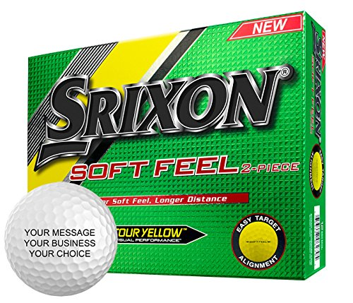 Srixon Soft Feel Personalized Golf Balls - Add Your Own Text (1 Dozen) - -