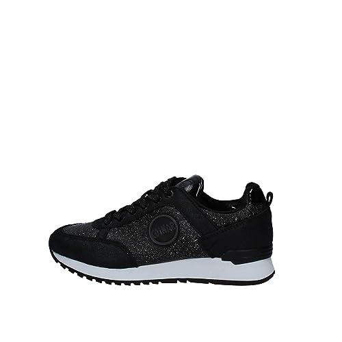 Colmar Travis Punk Nero Scarpe Donna Sneakers Lacci Pelle Glitter 40 b10b2036748