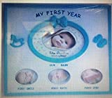 Baby's First Year 4 Window Picture Frame (Blue)