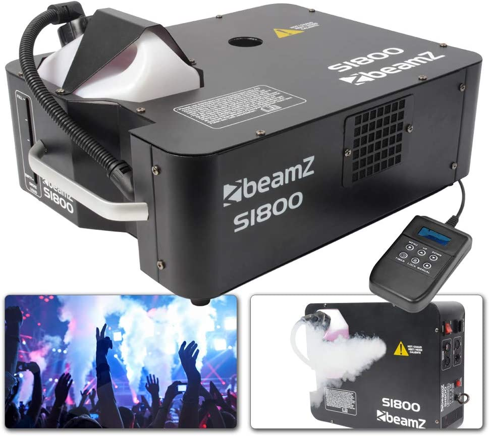 Beamz 160493 - S1800 maquina de humo dmx horizontal/vertical 1800w