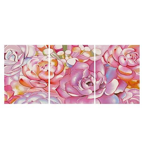 Amazon.com: GEVES Pink Succulent Plants Wall Art Giclee Print Canvas ...