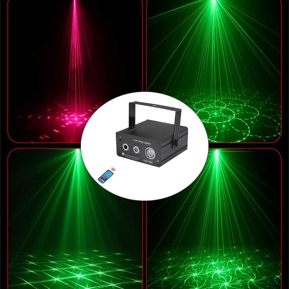 HDZWW Sound Activated Party Lights with Remote Control Dj Lighting, RBG Disco Ball,24 Modes Stage Par Light for Home Room Dance Parties Birthday DJ Bar Karaoke Xmas Wedding Show Club Pub