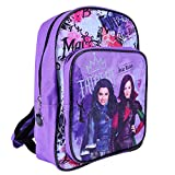 Disney Descendants Backpack for Girls - Violet School Bag with Front Pocket with Mal and Evie Print - Small Backpack for School and Kindergarten - 30x24x12 cm - Perletti