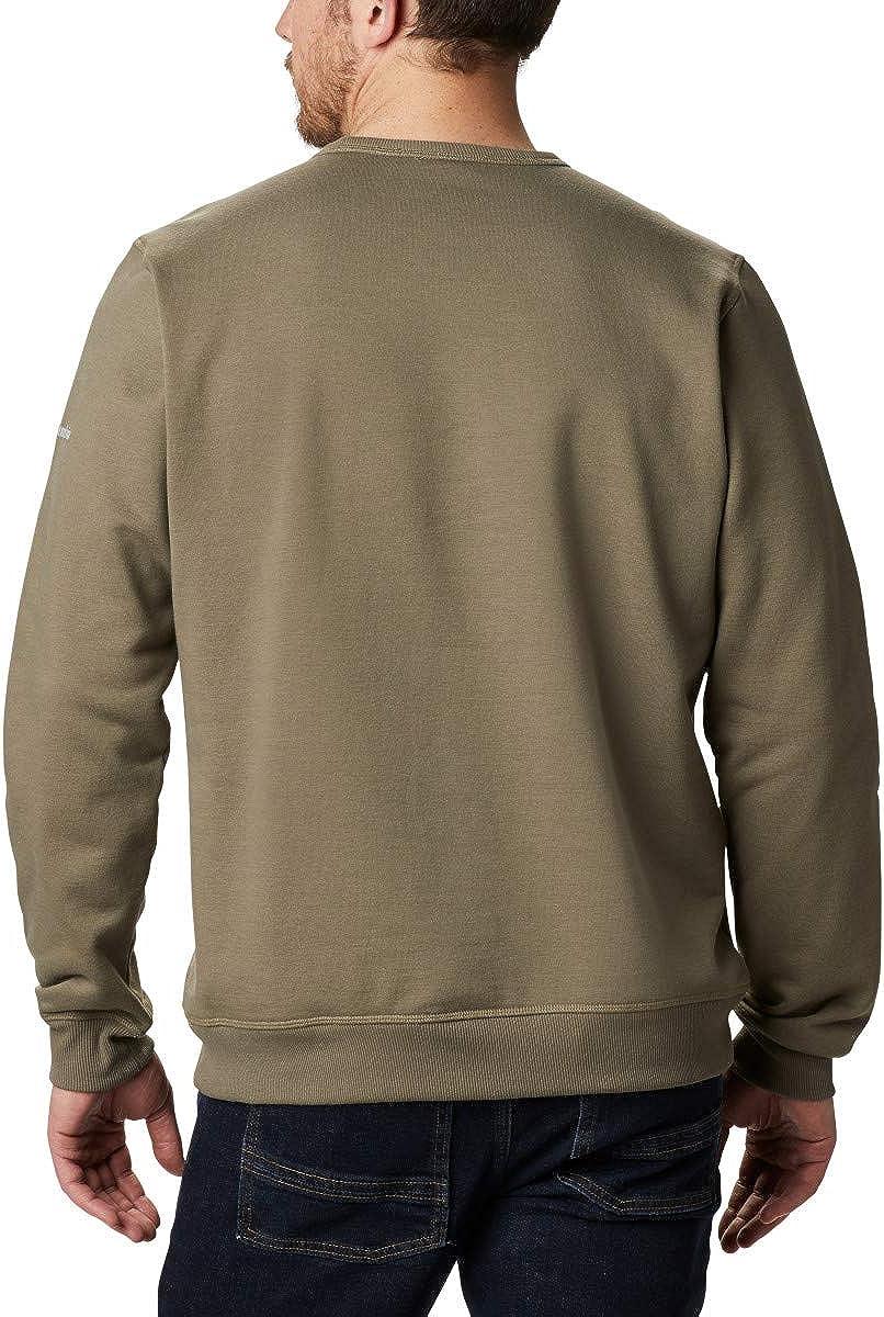 Columbia Herren M Logo Fleece Crew Sportbekleidung Fleece Steingrün Puff Logo