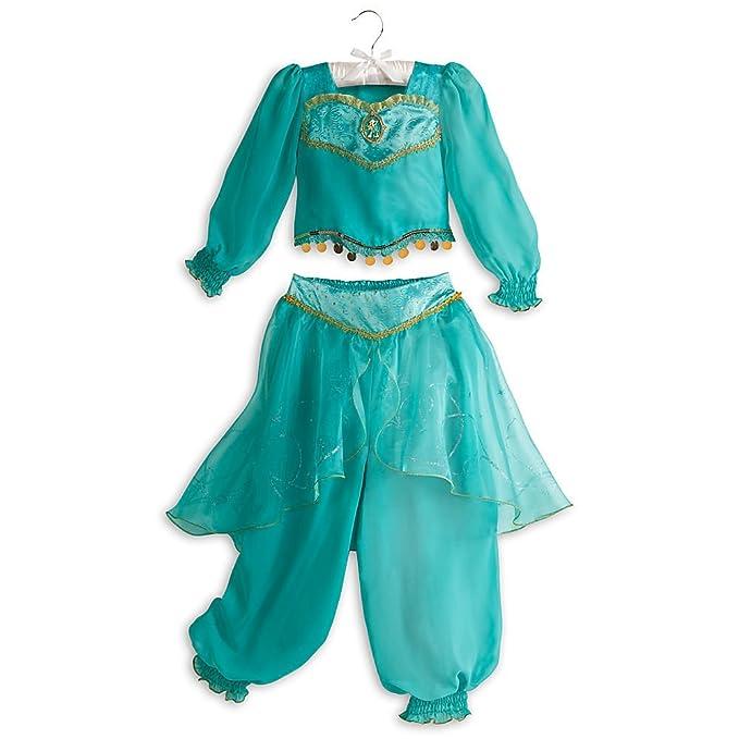 Amazon.com Disney Store Jasmine Aladdin Halloween Costume Size S Small 5 - 6 5T Clothing  sc 1 st  Amazon.com & Amazon.com: Disney Store Jasmine Aladdin Halloween Costume Size S ...