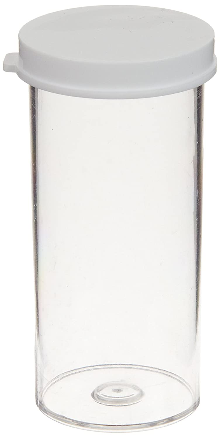 Delta Education 13 Dram Plastic Vial with Lid (Pack of 10) School Specialty 220-0340