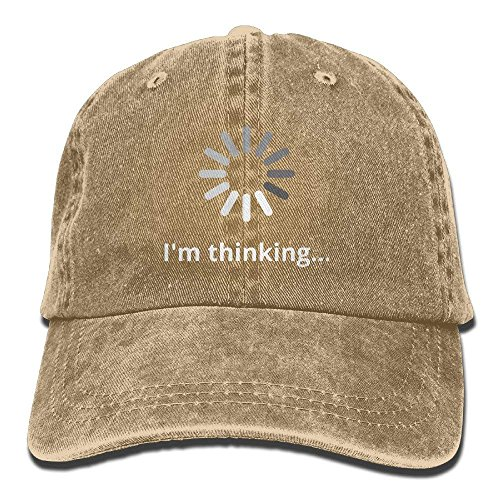 RZM YLY's I'm Thinking Unisex Adult Vintage Washed Denim Adjustable Baseball Cap