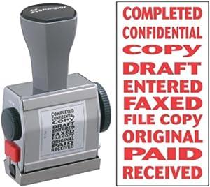 Xstamper(R) 10-In-1 Phrase Stamp, Red