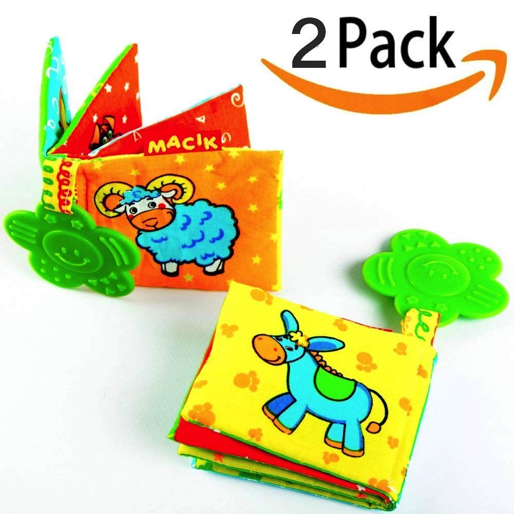 MACIK Baby Activity Book and Teething Toys PACK 2 Infant Developmental Toys for Boys and Girls Toys for Babies 6-12 Months Baby Toys 6 months Infant Teething Toys Baby Toys 6 to 12 Months Infant Toys by MACIK (Image #1)