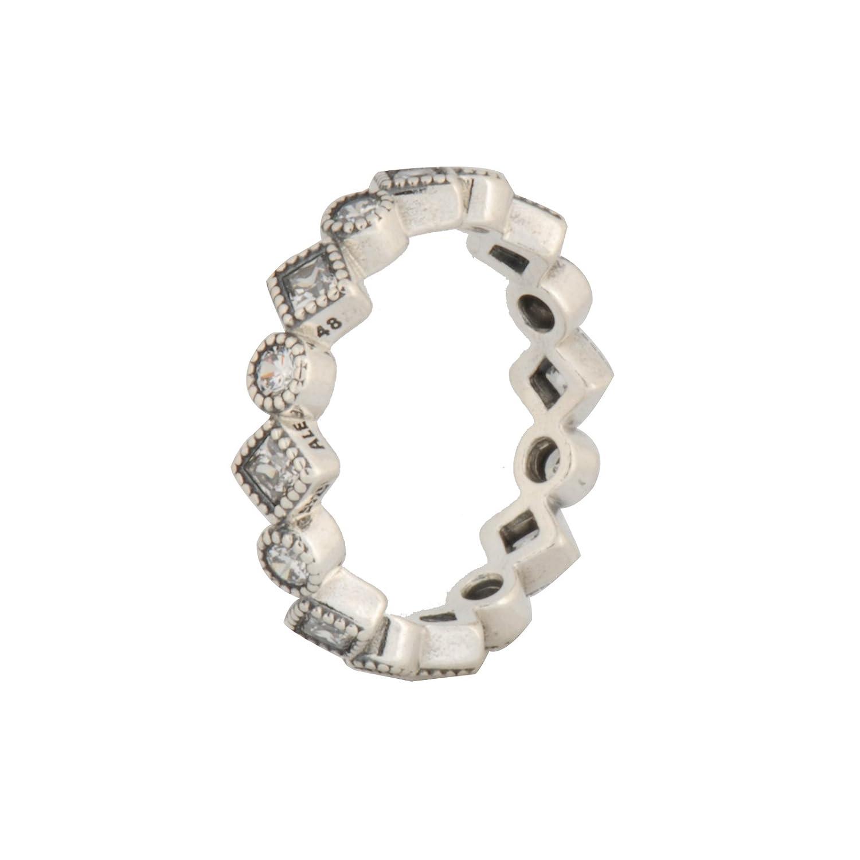 ec8299cd7 Amazon.com: Pandora Alluring Brilliant Princess Clear CZ Ring 190943CZ-50/ Size  5: Jewelry