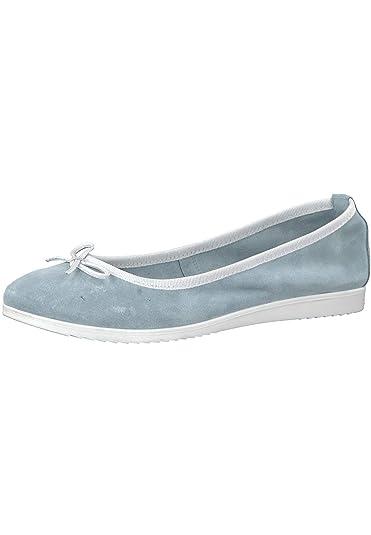 Tamaris 1 22102 20 977 Damen SkyWhite BlauWeiß Ballerina