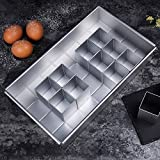 HAIT Cake Mold Letter Number Free Combination Brownie Aluminum Alloy Anode Non-Stick Pan