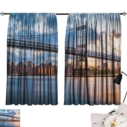 Amazoncom Warm Family New York City Blackout Curtains Kennedy