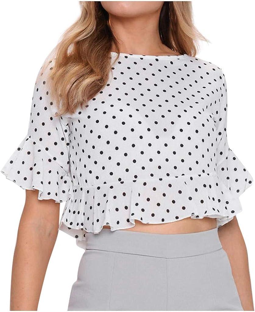 Teresamoon Women Casual Short Sleeve Letter Printed Casual T-Shirt Blouse