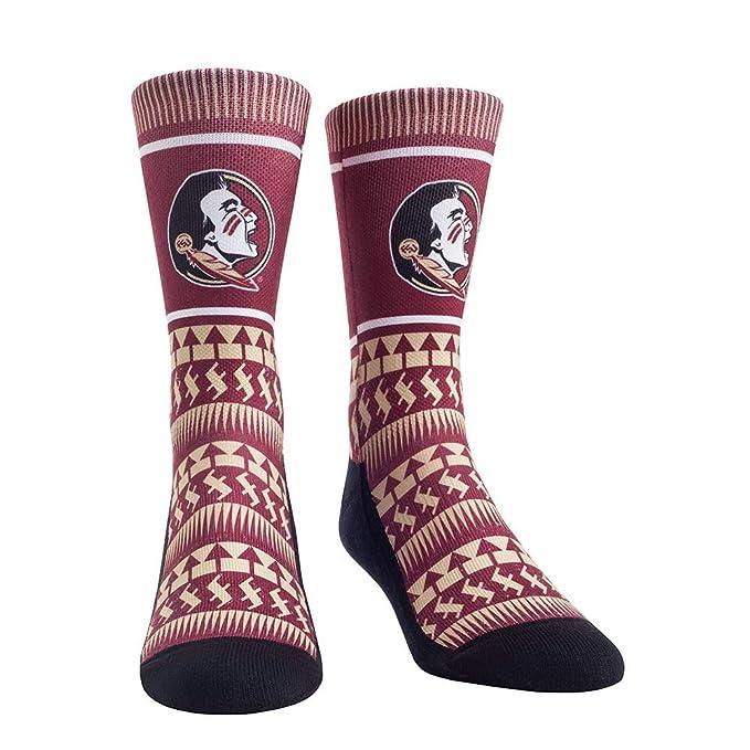 Rock Em NCAA Florida State University Seminoles Custom Athletic Crew Socks