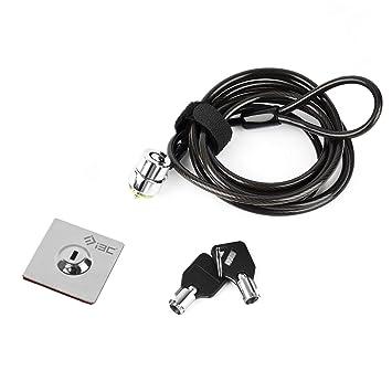 I3C Cable de Seguridad Antirrobo Candado Bloqueo con Llave de Seguridad para Teléfono Inteligente Ordenador Portátil Mac iPad iPhone Tabletas: Amazon.es: ...