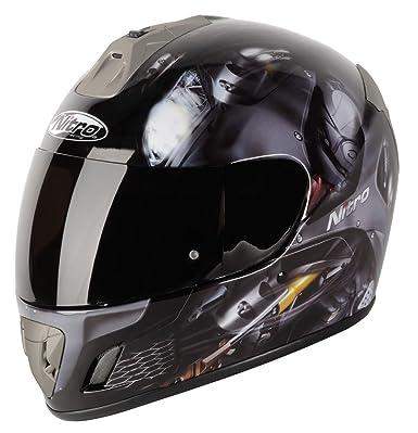 Nitro ngfp Pantera motocicleta casco, negro mate, 57-58 cm (M)