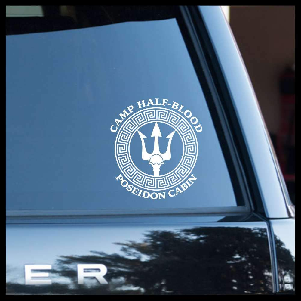 Camp Half-Blood Poseidon Cabin, Percy Jackson SMALL Vinyl Car/Laptop Decal
