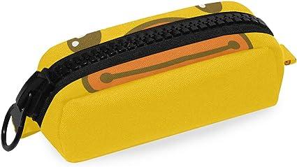 Estuche para lápices con diseño de cara de pato, color amarillo: Amazon.es: Oficina y papelería