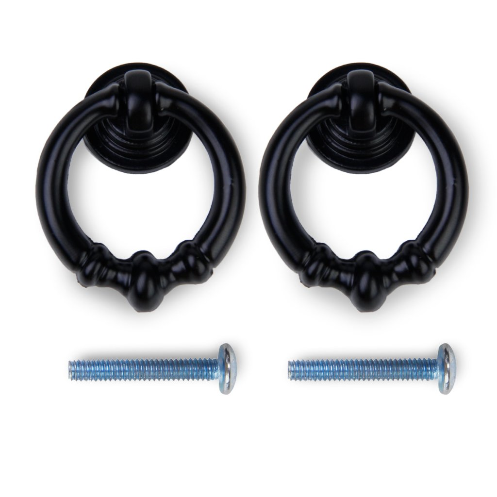 Superbe 2pcs Vintage Cabinet Drawer Dresser Cupboard Pull Handle Knob  Matte Black      Amazon.com