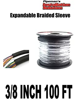 amazon com black 3 4 100ft braided expandable flex sleeve wiring black 3 8 100ft braided expandable flex sleeve wiring harness loom wire cover