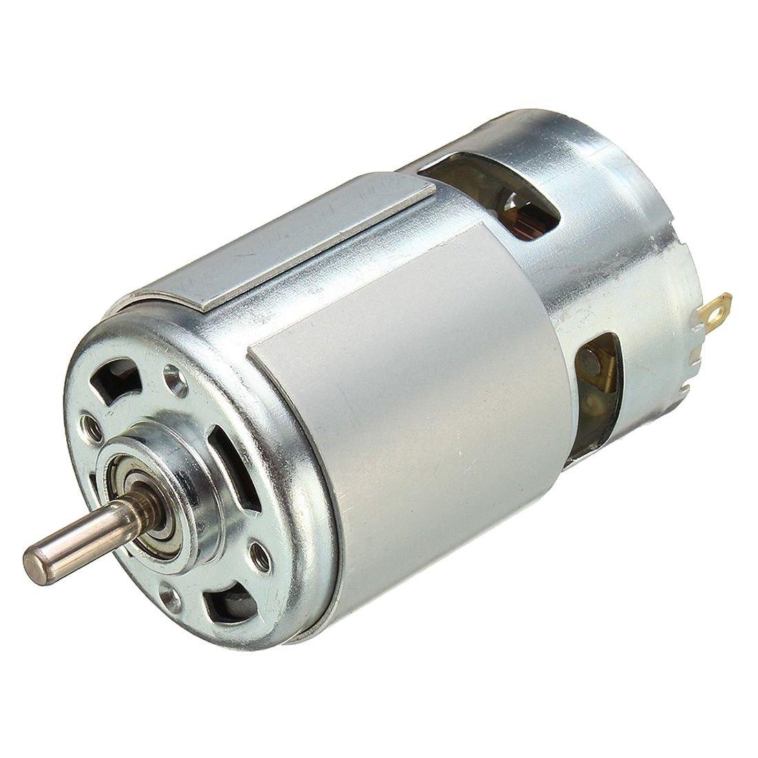 TOOGOO(R) 775 DC 12V-36V 3500-9000RPM Motor Large Torque Ball Bearing High Power Low Noise